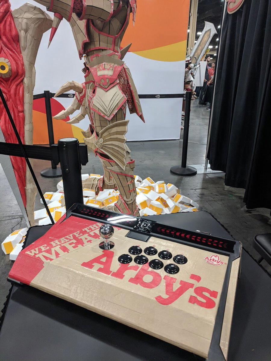 Arby's custom Qanba Dragon fightstick 3 out of 4 image gallery