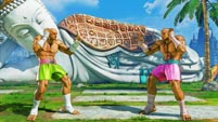 Sagat's nostalgia costume colors and Easter egg in Street Fighter 5: Arcade Edition image #4