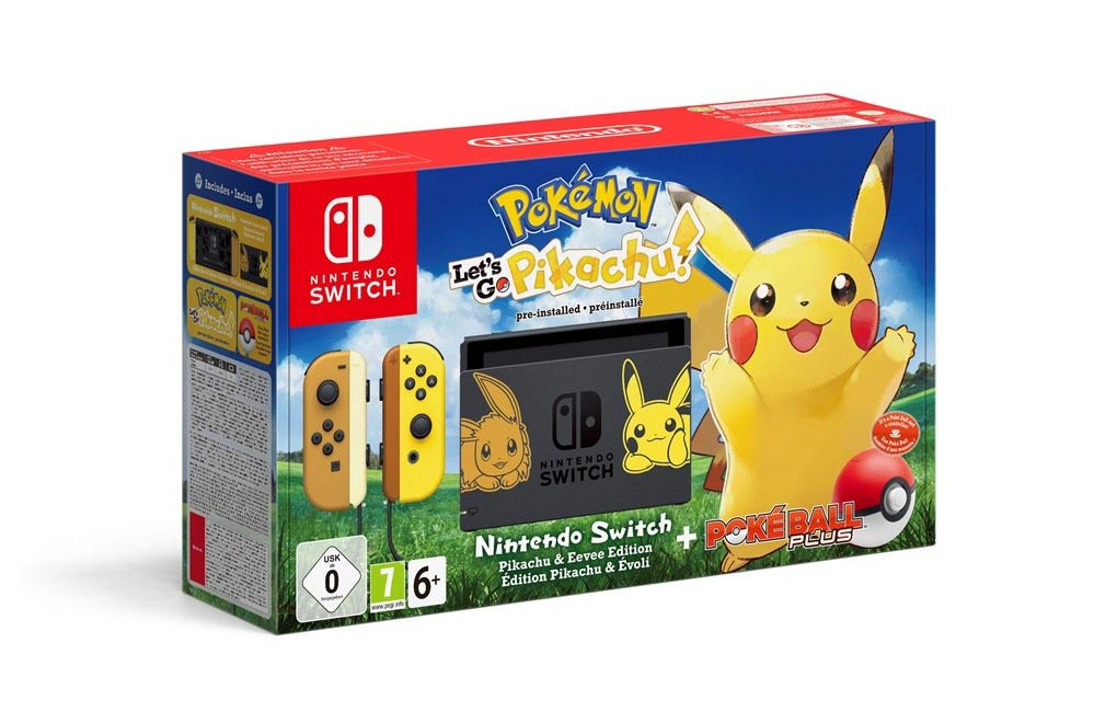 Pokémon-themed Pikachu and Eevee Nintendo Switch console 4 out of 5 image gallery