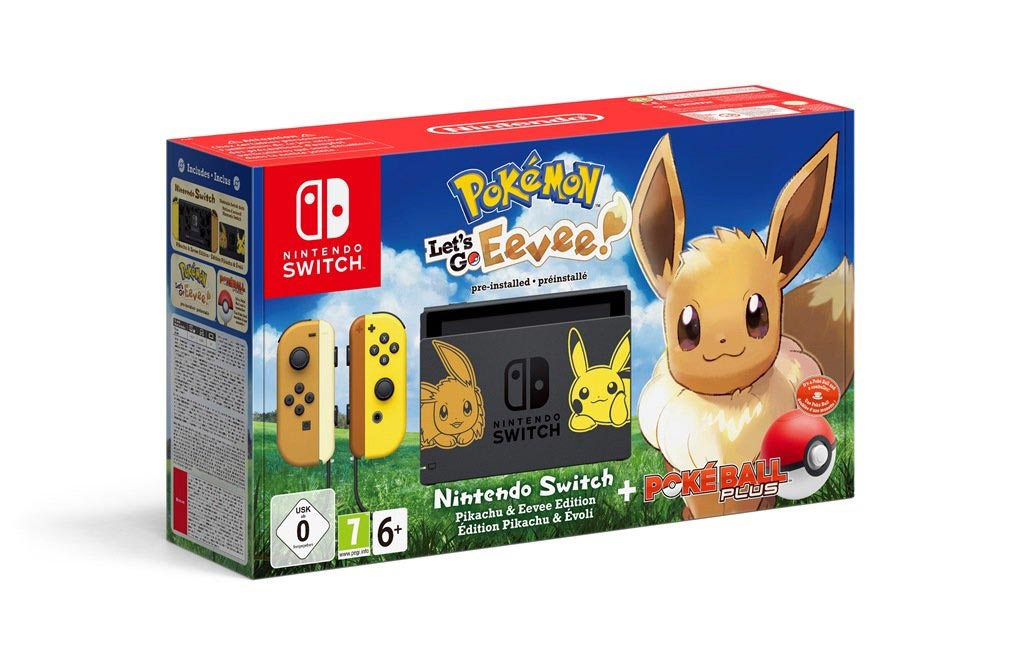 Pokémon-themed Pikachu and Eevee Nintendo Switch console 5 out of 5 image gallery