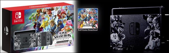 Nintendo switch and smash bros bundle