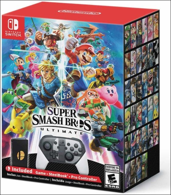 Super smash Bros. Ultimate Switch bundle Amazon listing 1 out of 1 image gallery