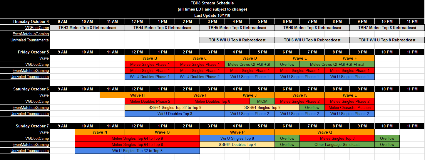 The Big House 8 Event Schedule 1 out of 1 image gallery