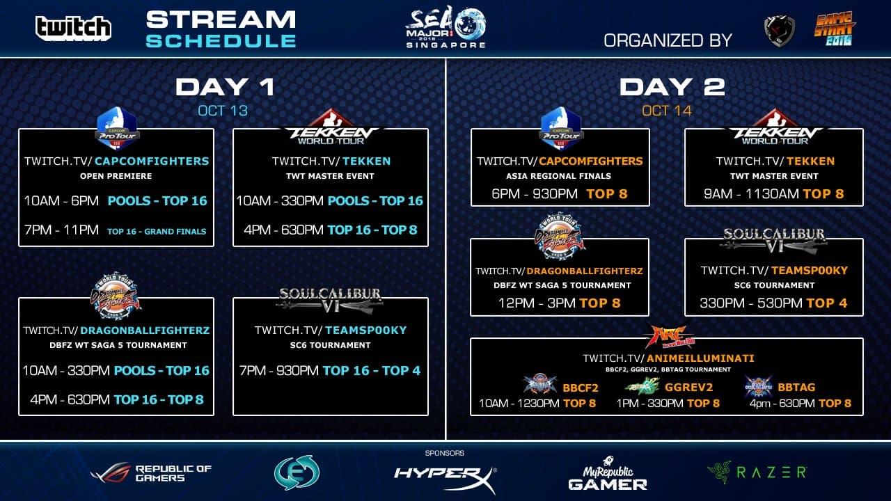 south east asia major 2018 event schedule 1 out of 1 image gallery