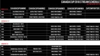 Canada Cup 2018 Event Schedule image #2