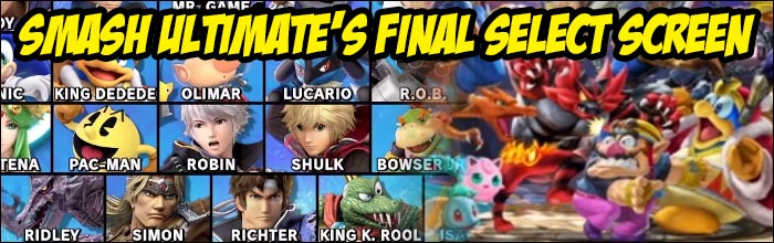 Here is the final character select screen and starting