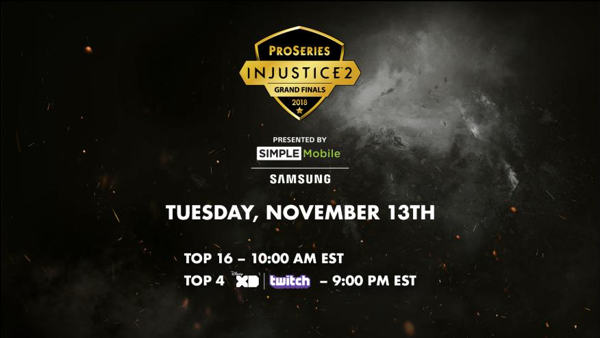 Injustice 2 Pro Series Grand Finals Event Schedule 1 out of 1 image gallery