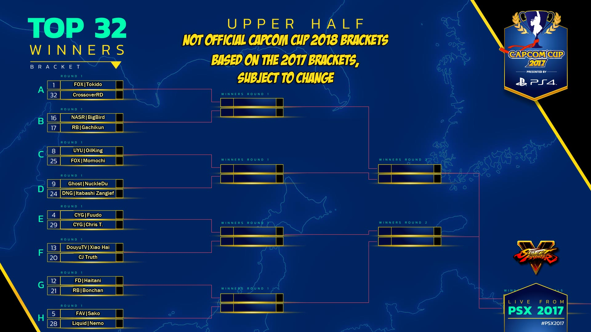 Theoretical Capcom Cup 2018 bracket 1 out of 2 image gallery