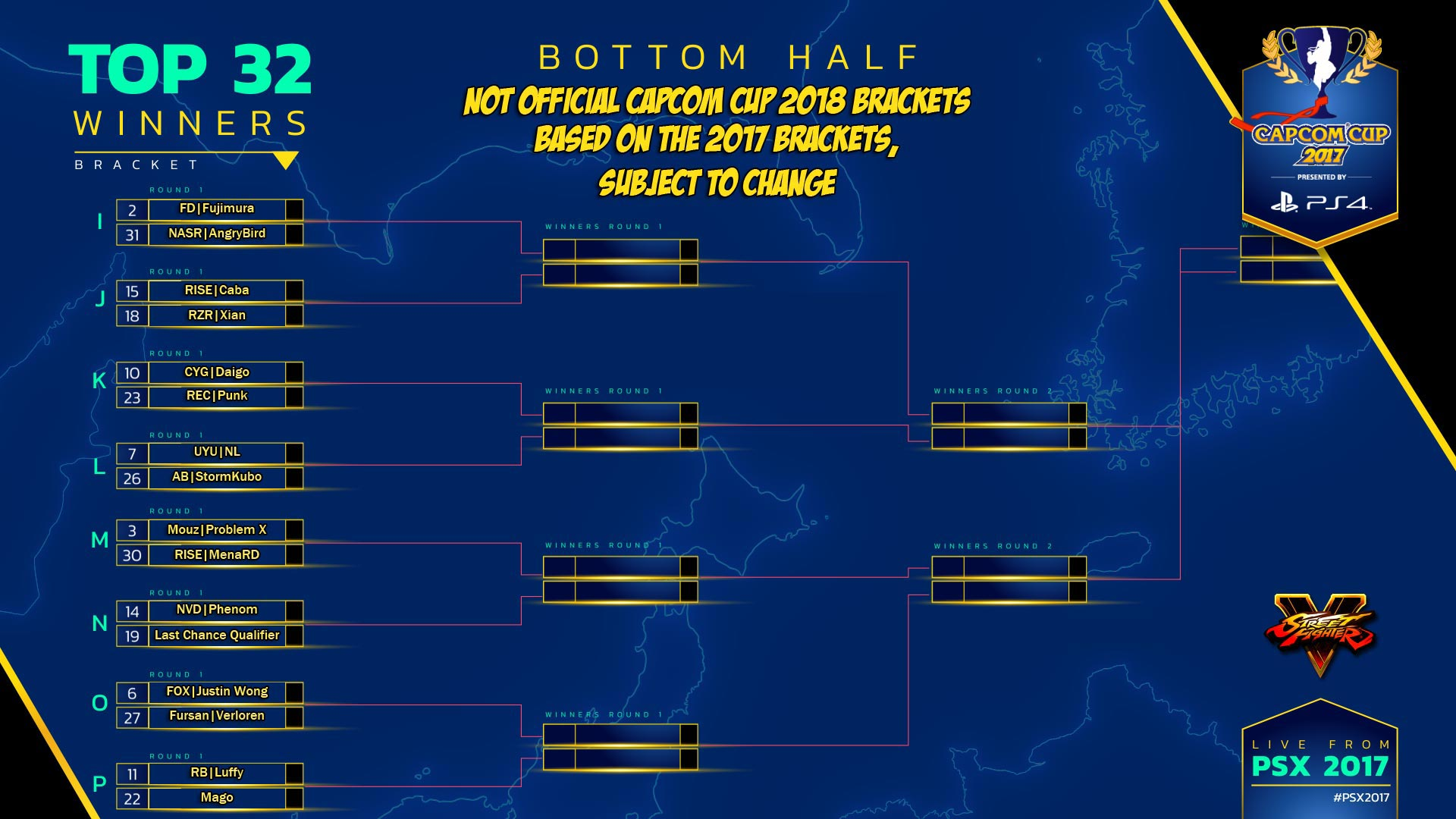 Theoretical Capcom Cup 2018 bracket 2 out of 2 image gallery