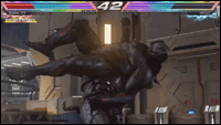 Armor King's Black Panther-esque costume  out of 6 image gallery