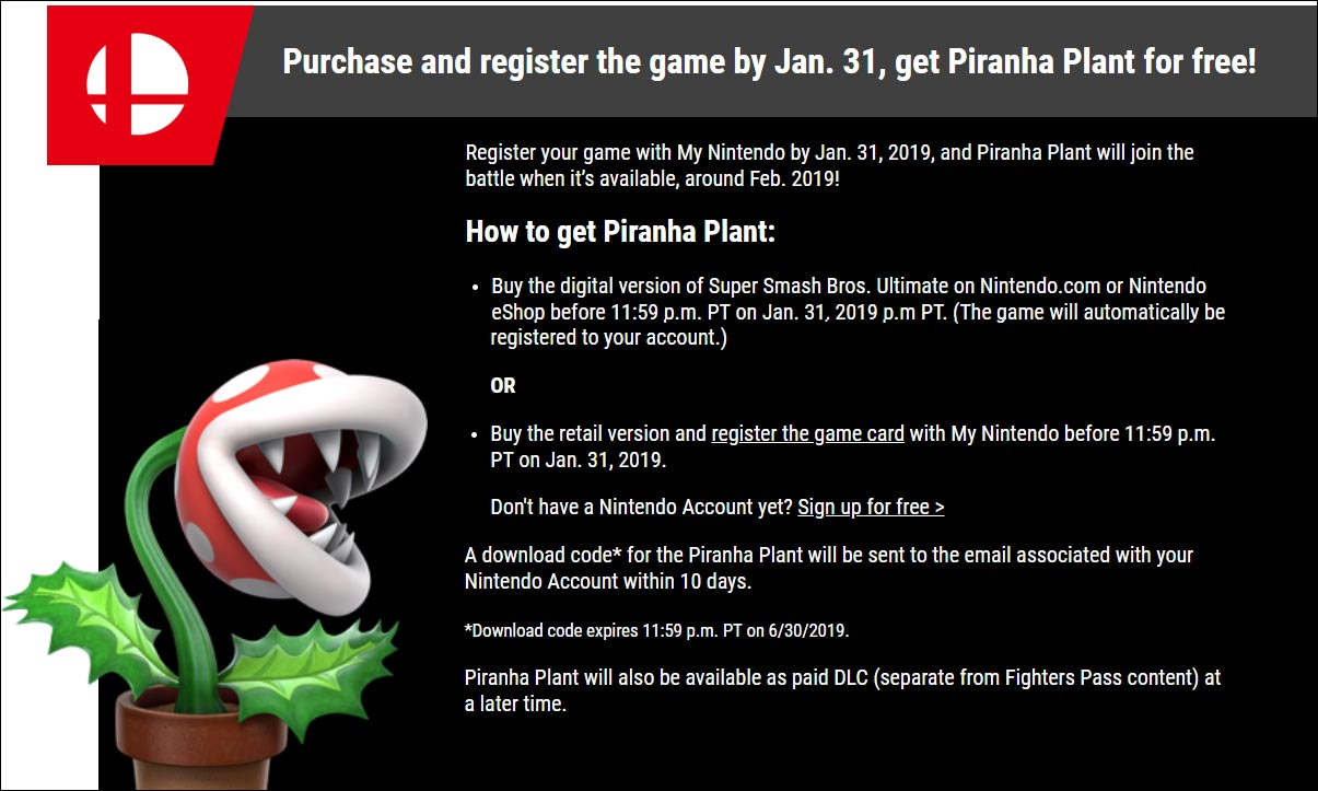 Piranha Plant Super Smash Bros. Ultimate prerequisite 1 out of 4 image gallery