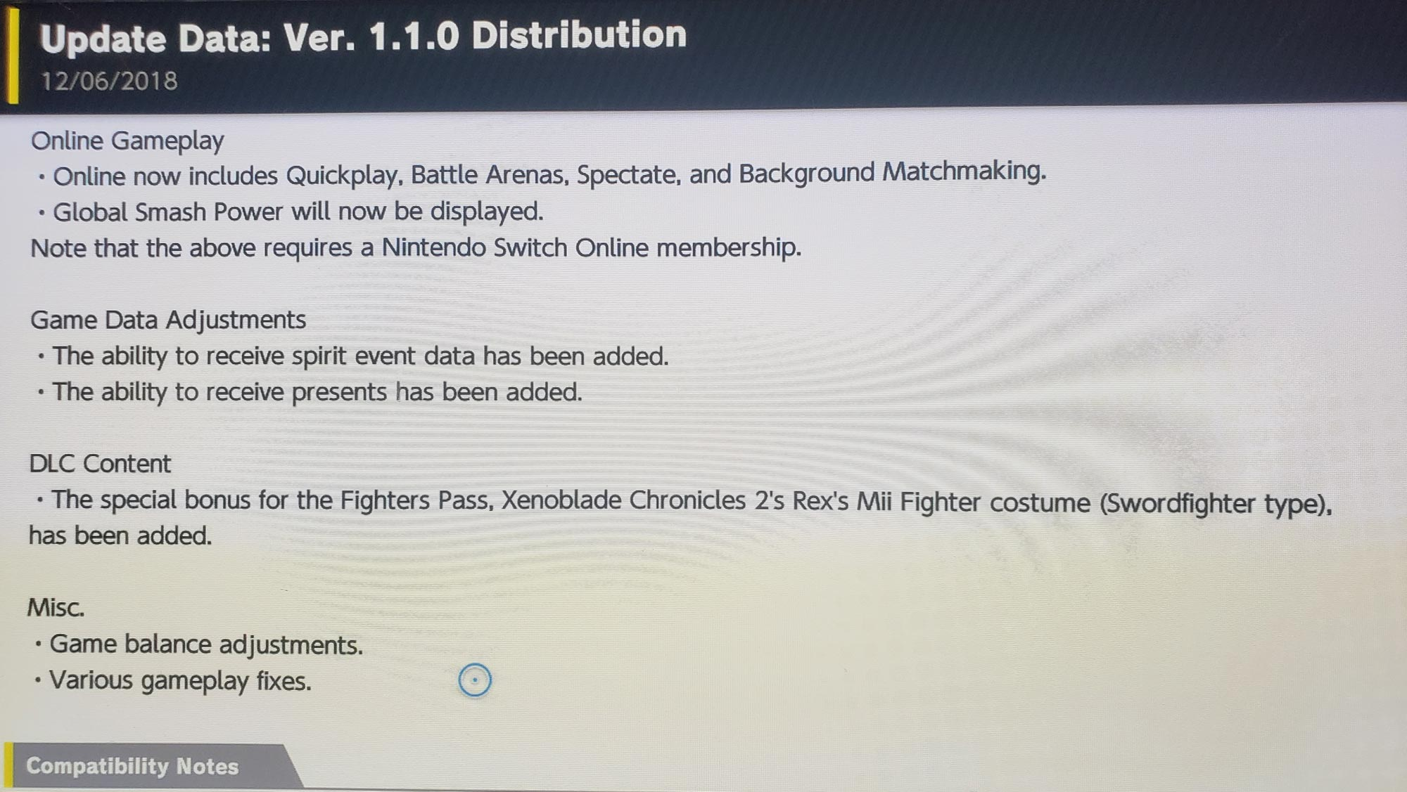 Super Smash Bros. Ultimate day one patch notes 2 out of 6 image gallery