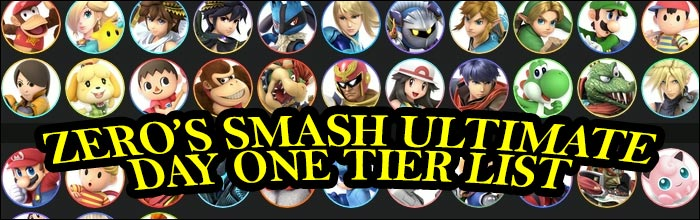 ZeRo releases his day one tier list for Super Smash Bros