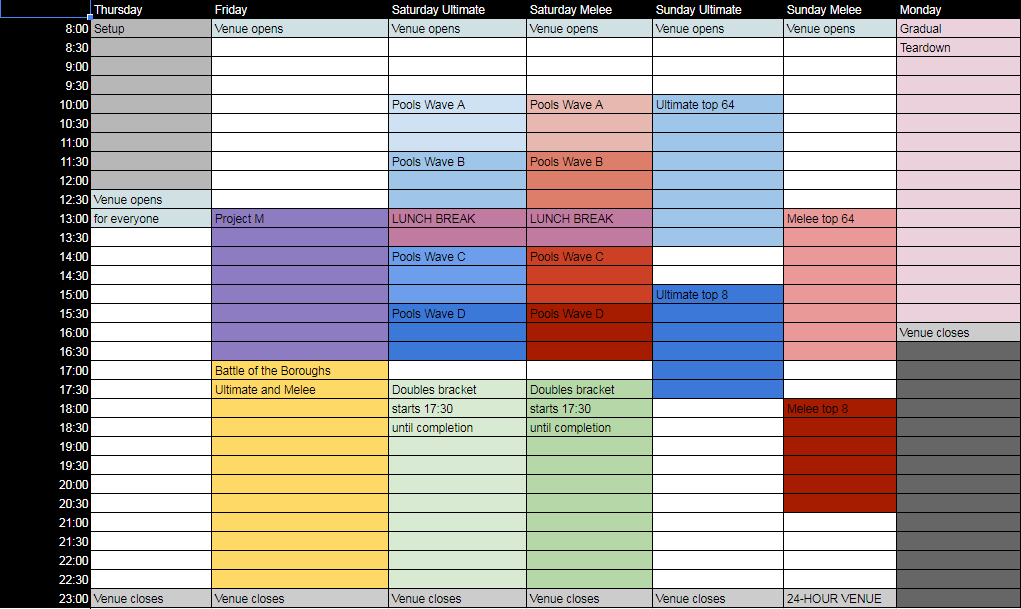 Valhalla Event Schedule 1 out of 1 image gallery
