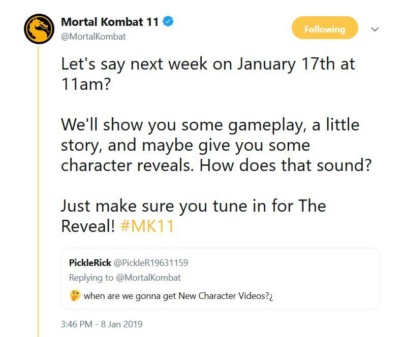 Mortal Kombat  Tweet 1 out of 1 image gallery