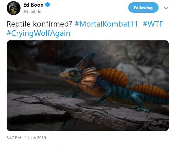 Reptile or Chameleon in MK11? 1 out of 1 image gallery