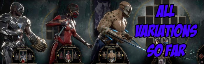 Here Are All Of The Main Variations From Mortal Kombat 11 S