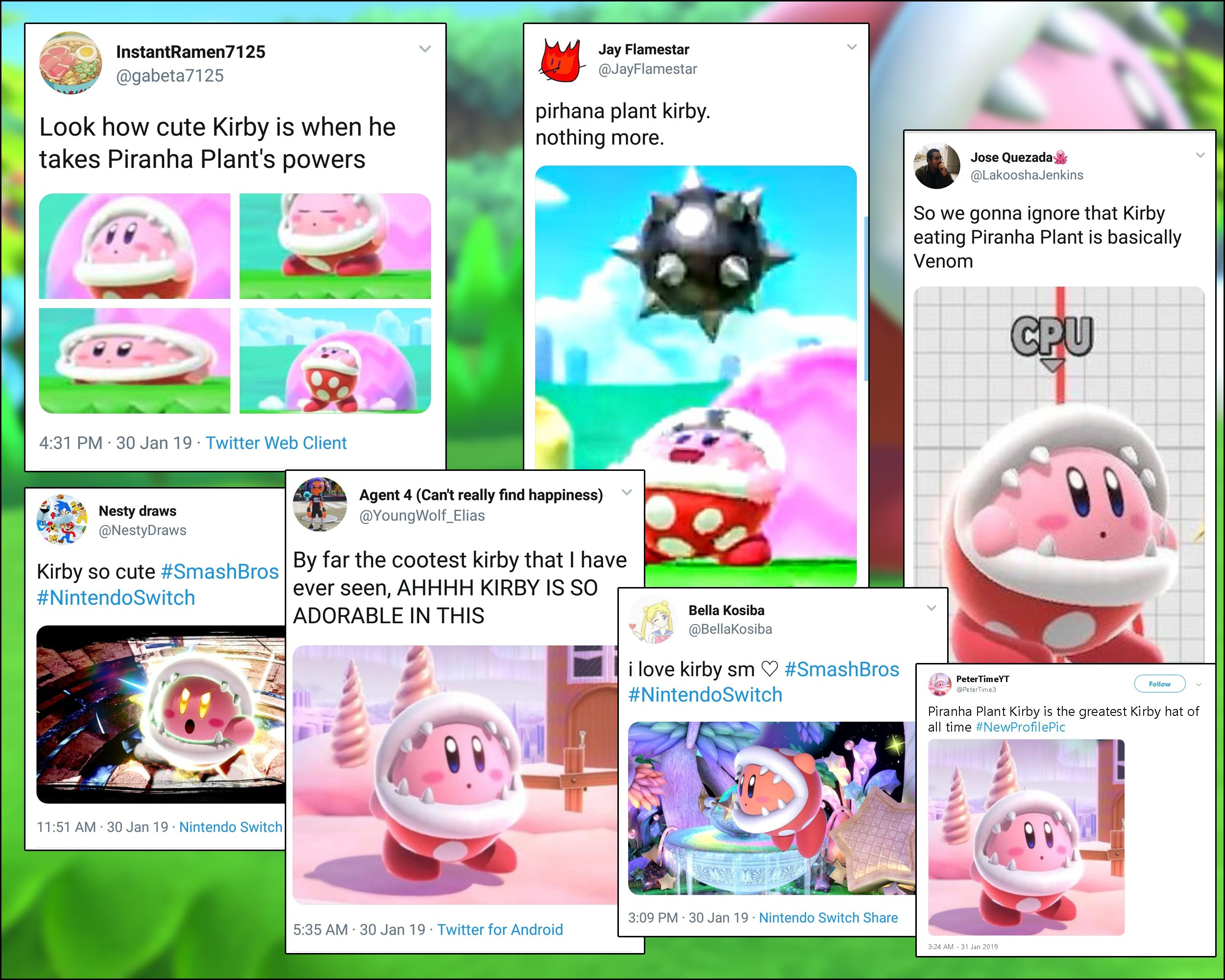 Piranha Plant Kirby Memes Artwork And Reactions 4 Out Of 10