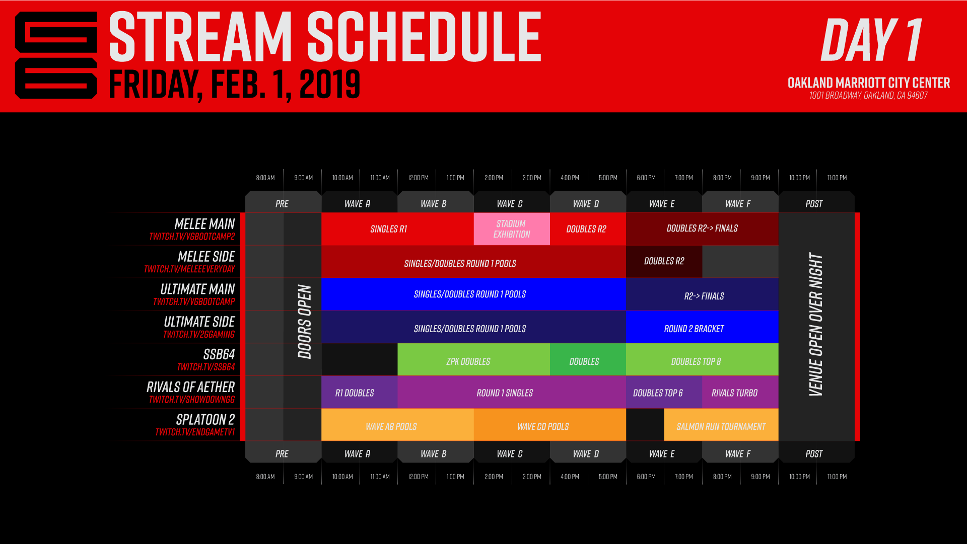 Genesis 6 Event Schedule 1 out of 3 image gallery