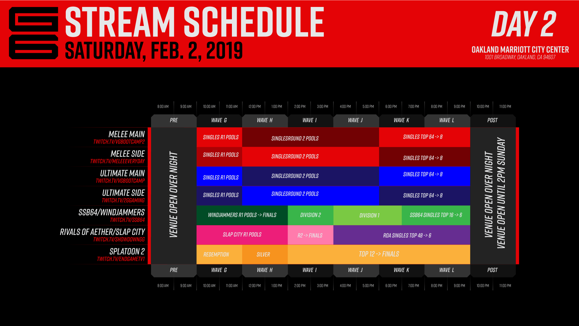 Genesis 6 Event Schedule 2 out of 3 image gallery