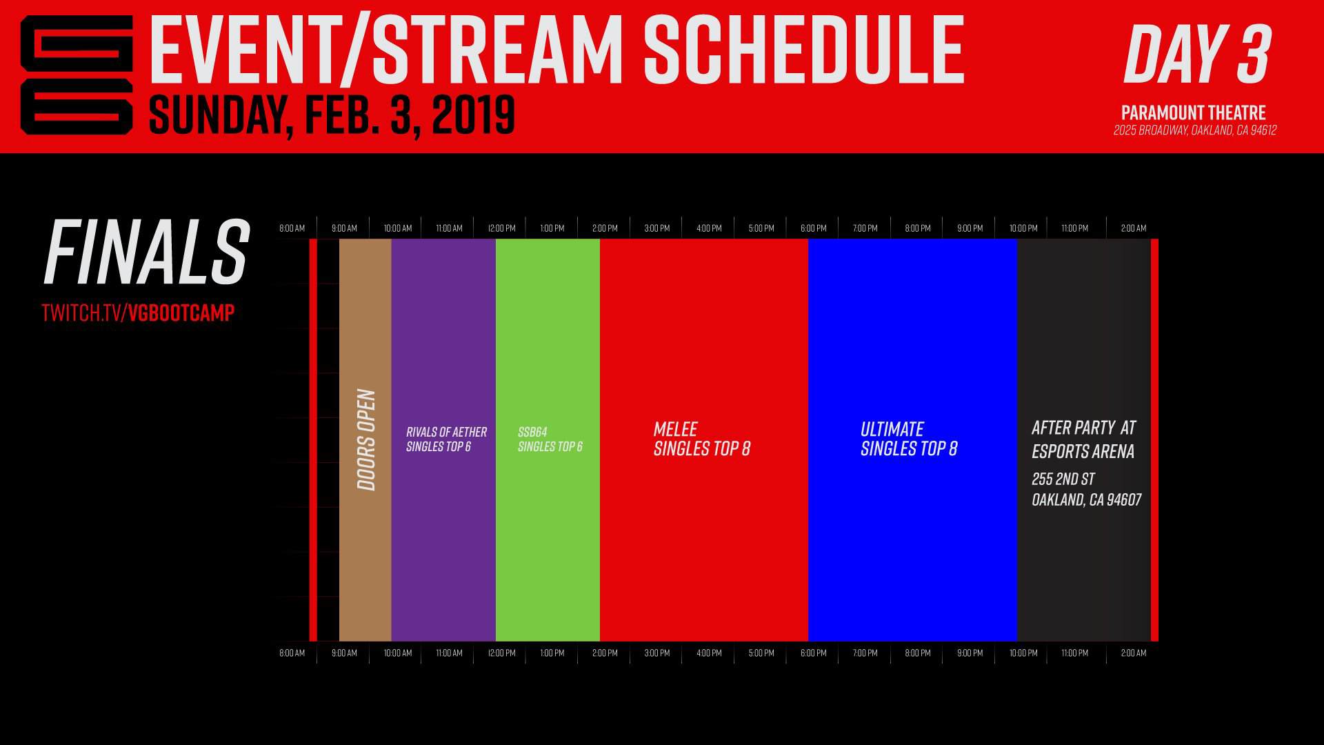 Genesis 6 Event Schedule 3 out of 3 image gallery