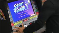 New Wave Toys' Street Fighter 2 mini arcade cabinet image #1