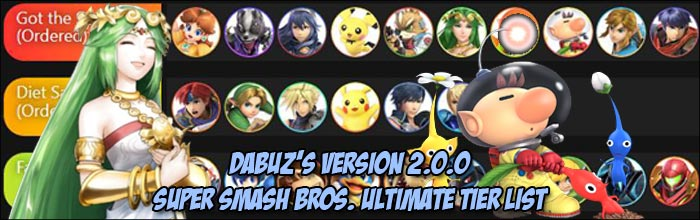Dabuz releases his updated Super Smash Bros  Ultimate tier list