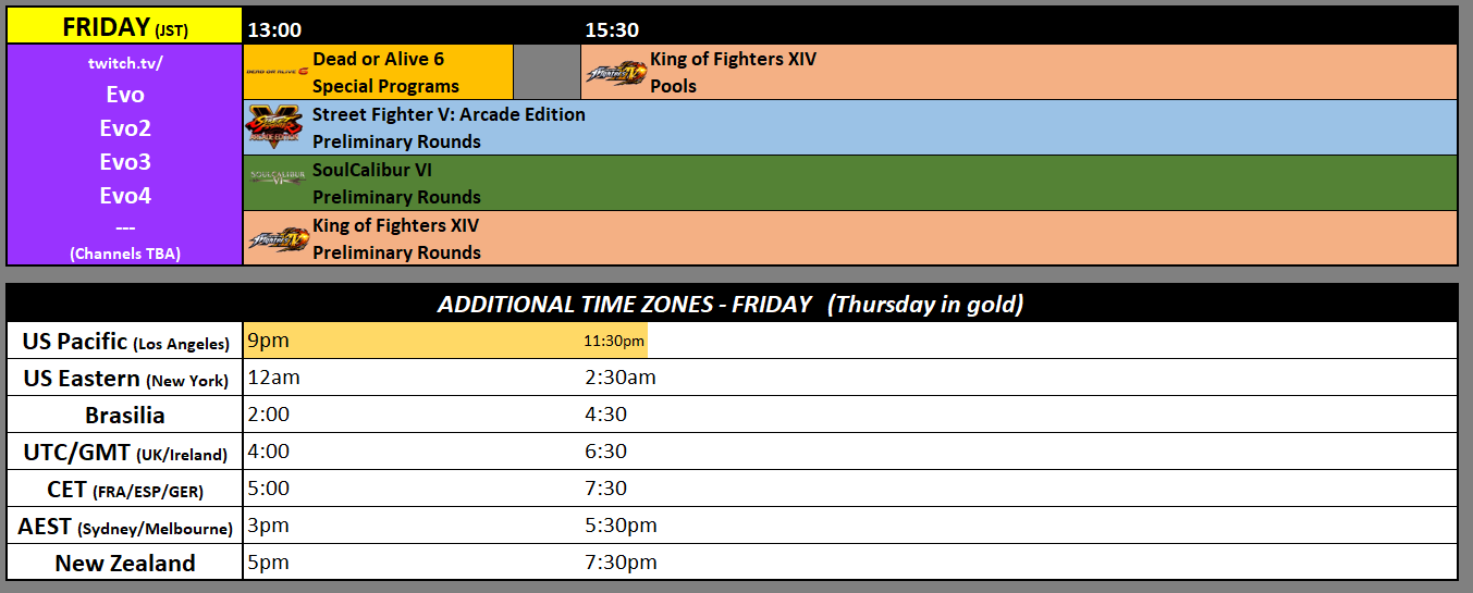 EVO Japan 2019 Event Schedule 1 out of 3 image gallery