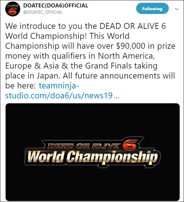 Dead or Alive 6 World Championship 1 out of 1 image gallery