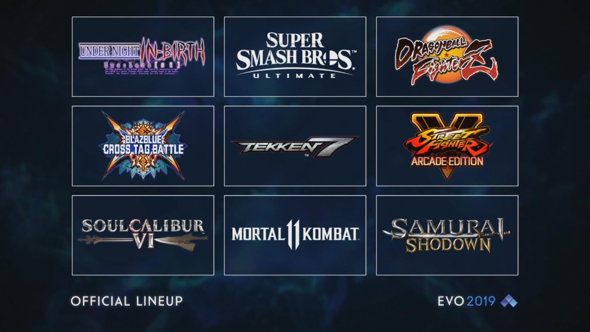 EVO 2019 game lineup 1 out of 1 image gallery
