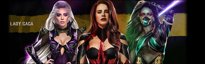 Lady Gaga Is Sindel Rihanna Is Jade Lana Del Rey Is Skarlet And Nicki Minaj Is Tanya In Carlos Gzz S Amazing Mortal Kombat Crossover Art