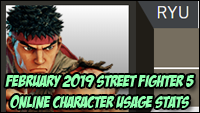 Street Fighter 5 February 2019 CFN stats image #1