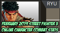 Street Fighter 5 February 2019 CFN stats image #2
