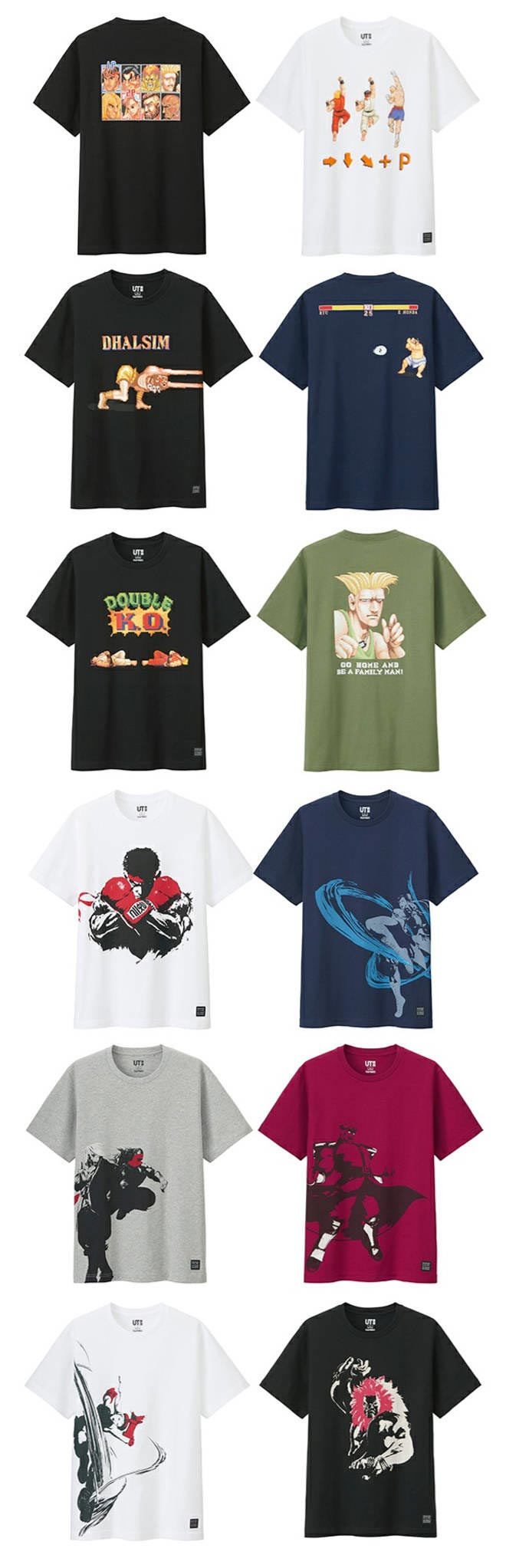 Street Fighter UNIQLO T-shirts 14 out of 17 image gallery