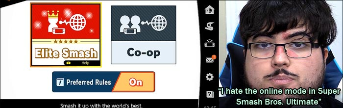 I hate the online mode in Super Smash Bros  Ultimate' — ZeRo