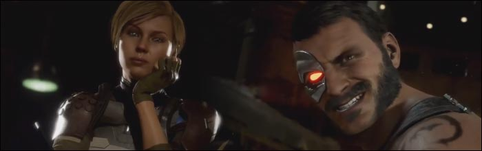 Cassie Cage kicks Kano's crotch so hard he loses his skeleton in new