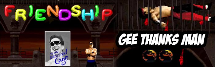 Johnny Cage can perform a glitched Friendship in Mortal