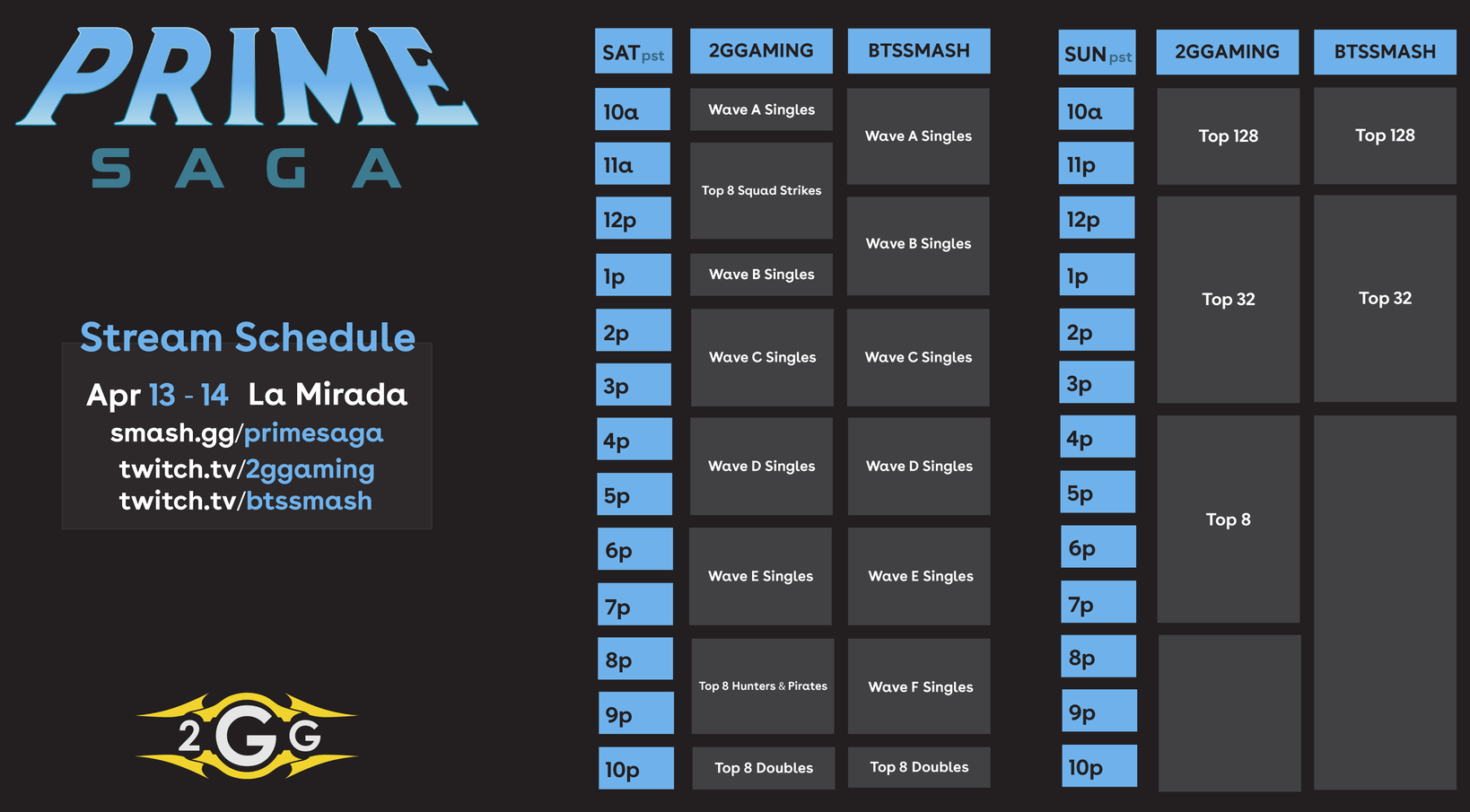 2GG: Prime Saga schedule 1 out of 2 image gallery