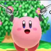 Kirby gets a gun in Super Smash Bros. Ultimate thanks to Joker