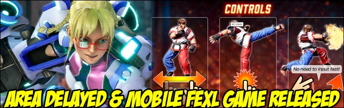fighting ex layer s next dlc character area delayed until summer smartphone version released as april fools game fighting ex layer s next dlc character