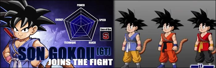 Here are the costume colors for Kid Goku in Dragon Ball