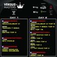 Versus Masters 2019 Event Schedule image #1