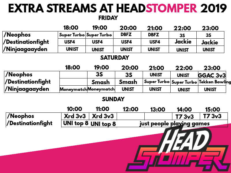 Headstomper 2019 Event Schedule 3 out of 3 image gallery