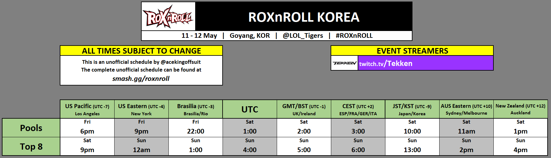 ROXnROLL Korea Event Schedule 1 out of 1 image gallery