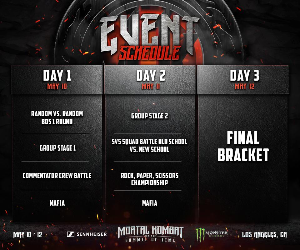 Summit of Time Event Schedule 1 out of 1 image gallery