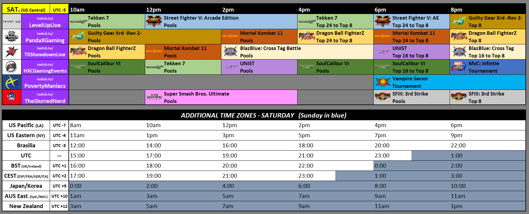 Texas Showdown 2019 Event Schedule 2 out of 3 image gallery
