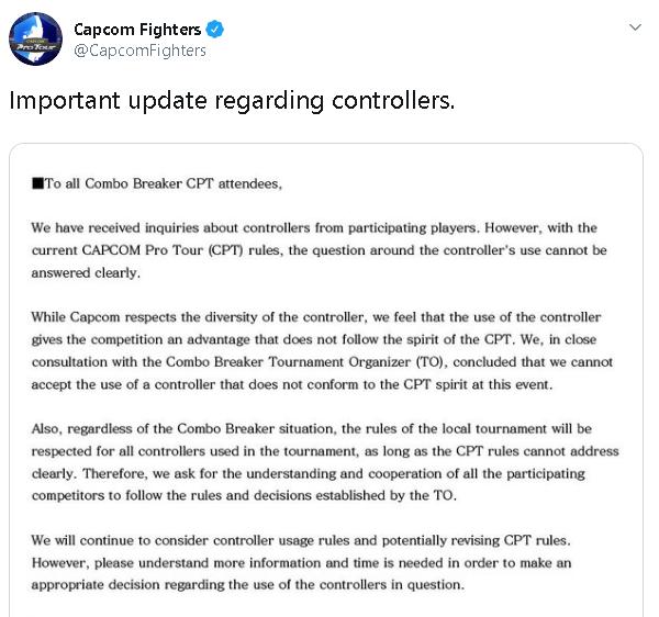 Capcom's statement regarding Daigo's hitbox at Combo Breaker 2019 2 out of 2 image gallery