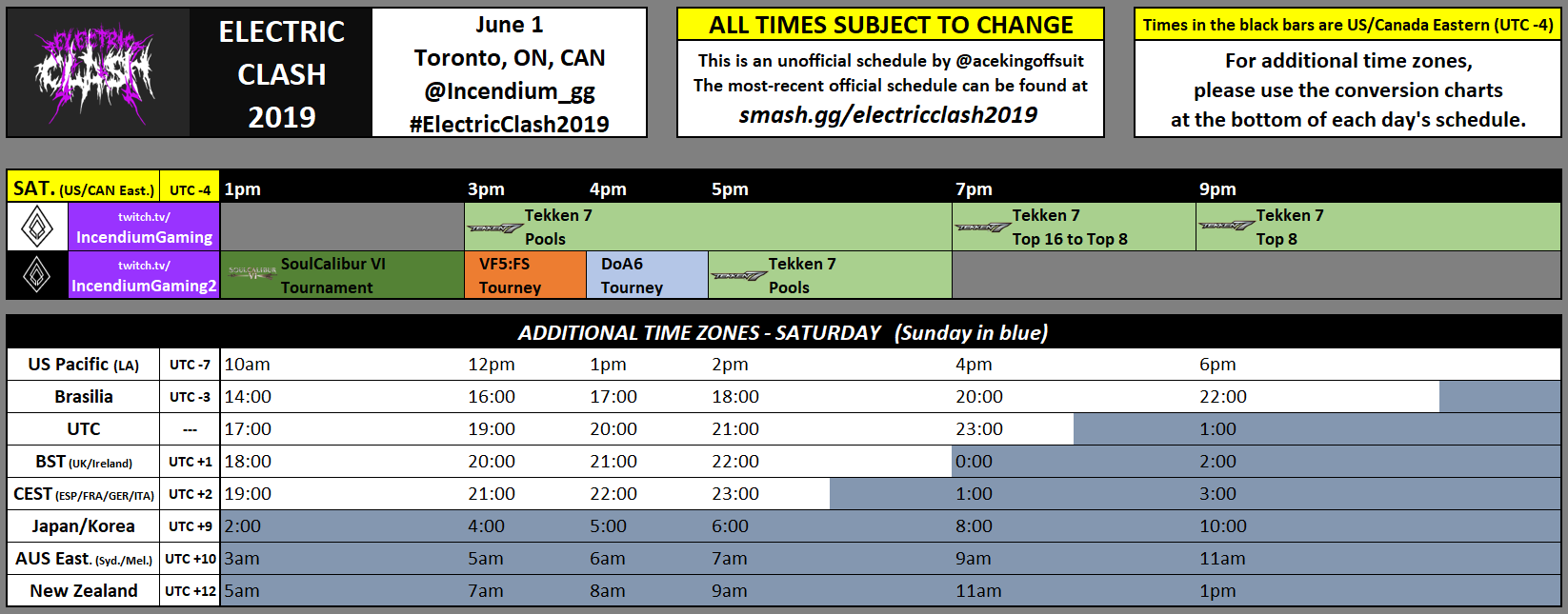 Electric Clash Event Schedule 1 out of 1 image gallery