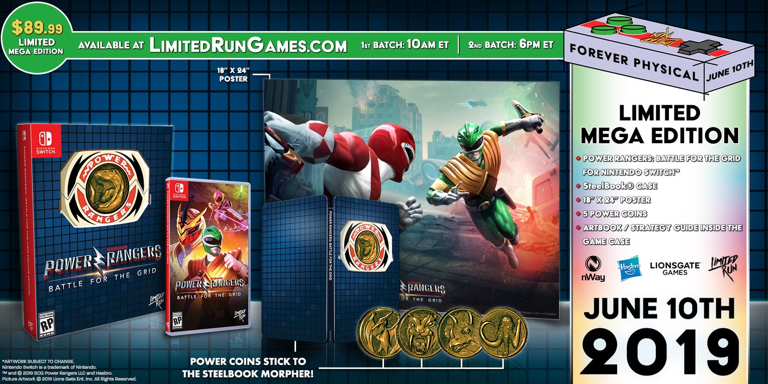 Power Rangers: Battle For the Grid physical release 1 out of 3 image gallery