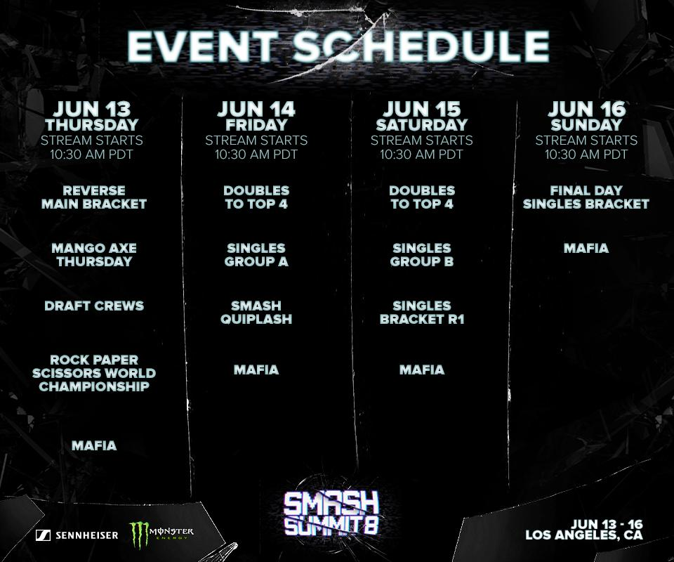 Smash Summit 8 Event Schedule 1 out of 1 image gallery